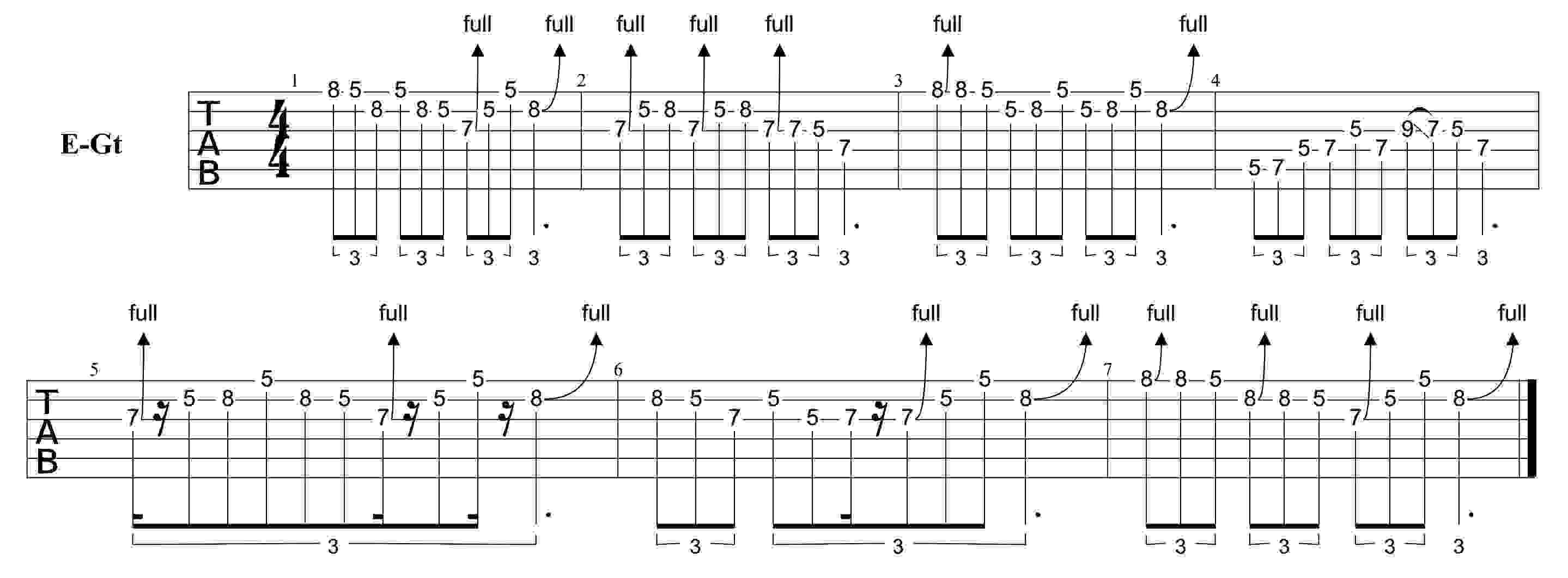 Triplet Guitar Licks Guitar Tuition Exercise